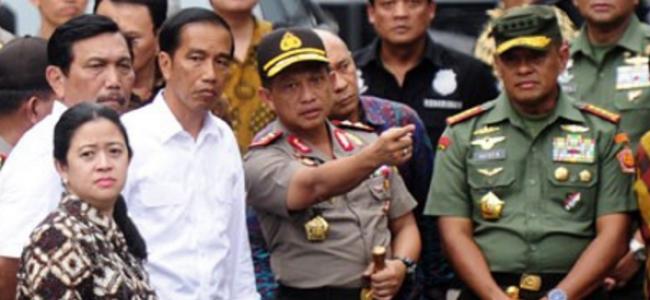 Foto Jokowi Bersama Kapolri Tito Karnavian